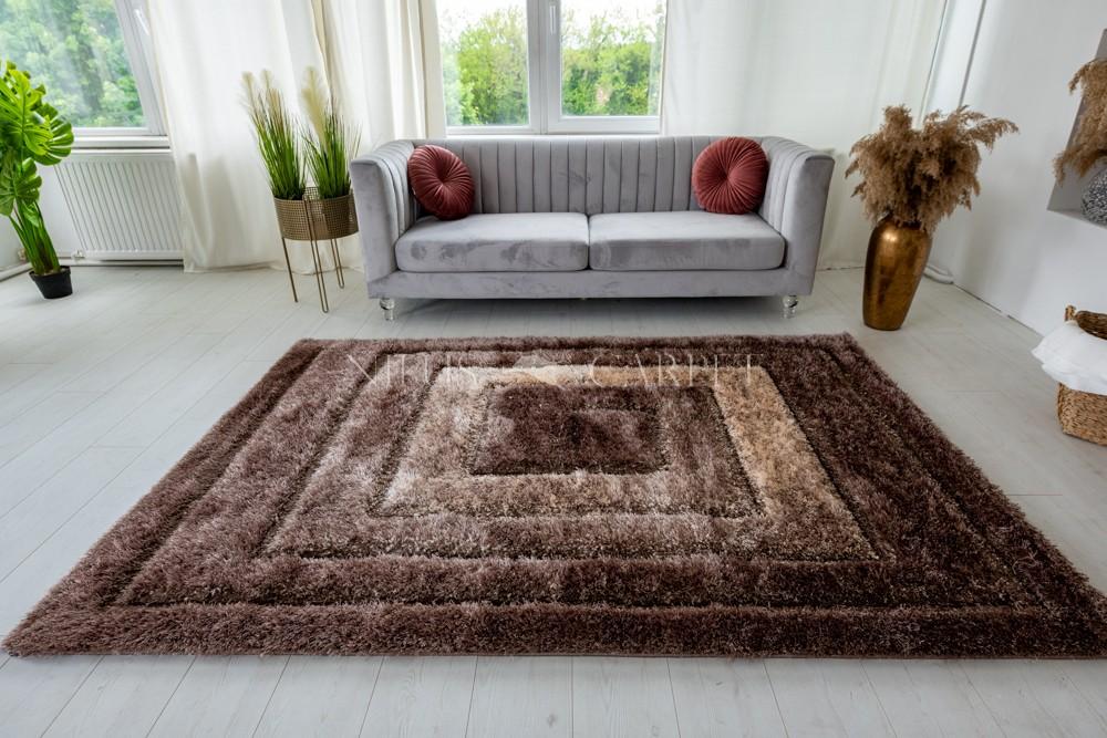 Pure Luxury 3d Tatami Brown beige szőnyeg 200x290cm
