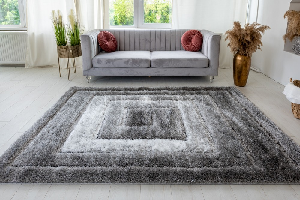 Pure Luxury 3d Tatami Gray white szőnyeg 120x170cm