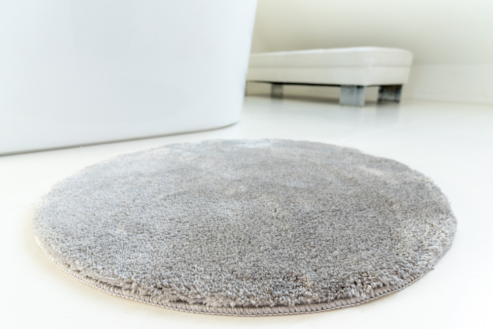 Shaggy Szürke Vajpuha 100cm kerek Szőnyeg és fürdőszoba szőnyeg
