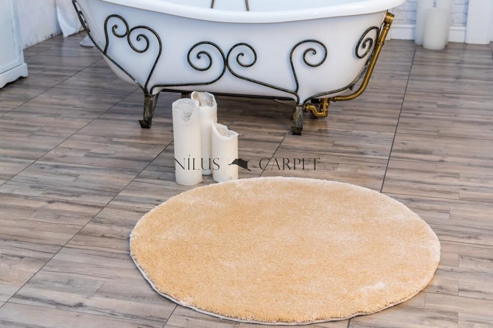Shaggy Beige Vajpuha 67cm kerek Szőnyeg és fürdőszoba szőnyeg