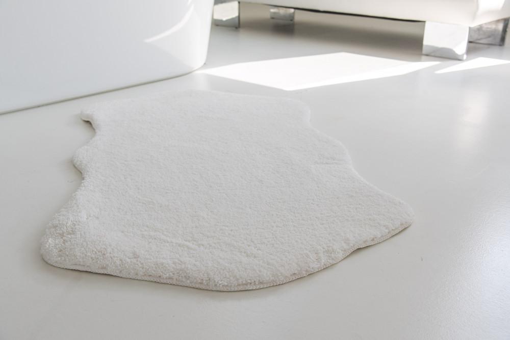 Shaggy fehér Vajpuha állat forma 80x150cm szőnyeg