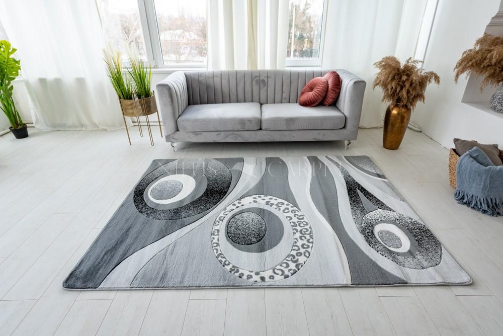 Stradivarius gray (szürke) modern keretes szőnyeg 160x220cm