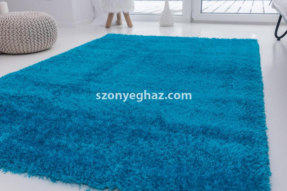 Super türkiz (türkizkék) shaggy szőnyeg 120x170cm
