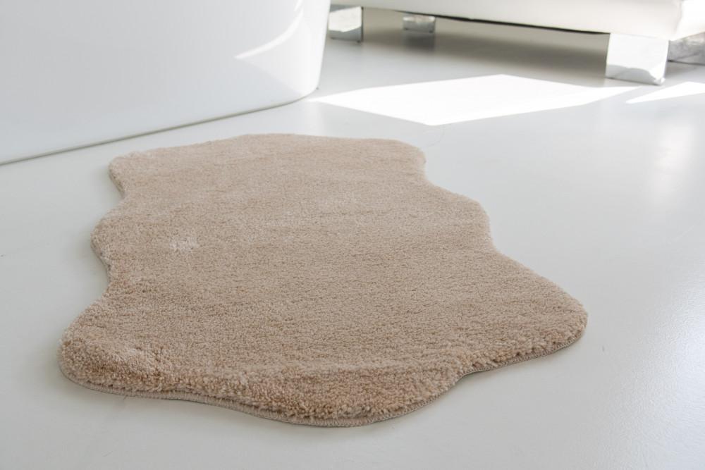 Shaggy beige Vajpuha állat forma 67x110cm szőnyeg