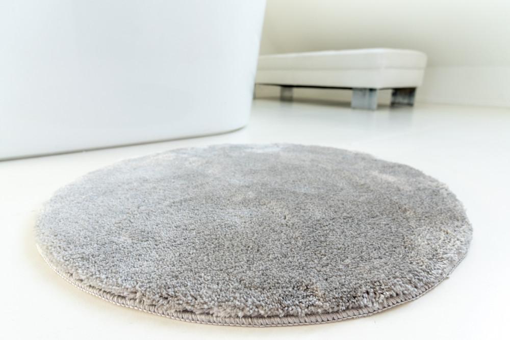 Shaggy Szürke Vajpuha 80cm kerek  Szőnyeg és fürdőszoba szőnyeg