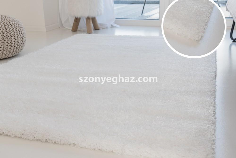 Super white (hófehér) shaggy szőnyeg 60x110cm