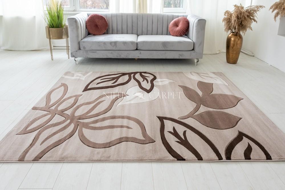 Thalia beige cream (bézs-barna ) modern leveles szőnyeg 80x150cm