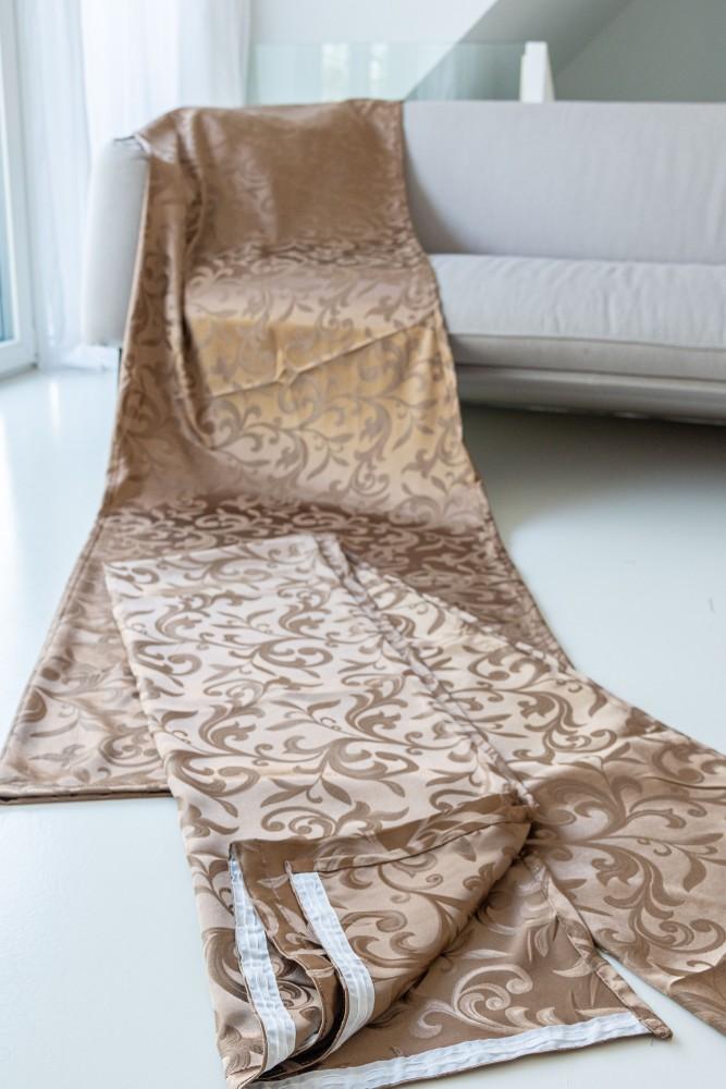 Velence Kész Sötétítő beige (bézs-barna) 300x250cm függöny