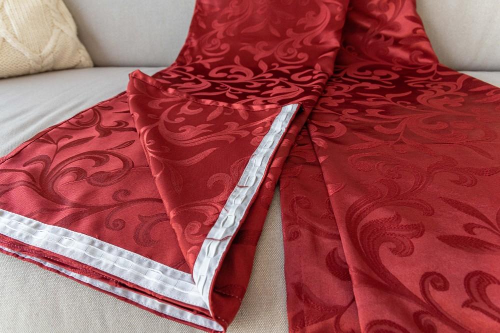 Velence Kész Sötétítő red (bordó) 300x250cm függöny