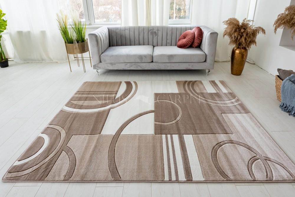 Vivaldi beige cream (bézs-barna ) modern keretes szőnyeg 120x170cm