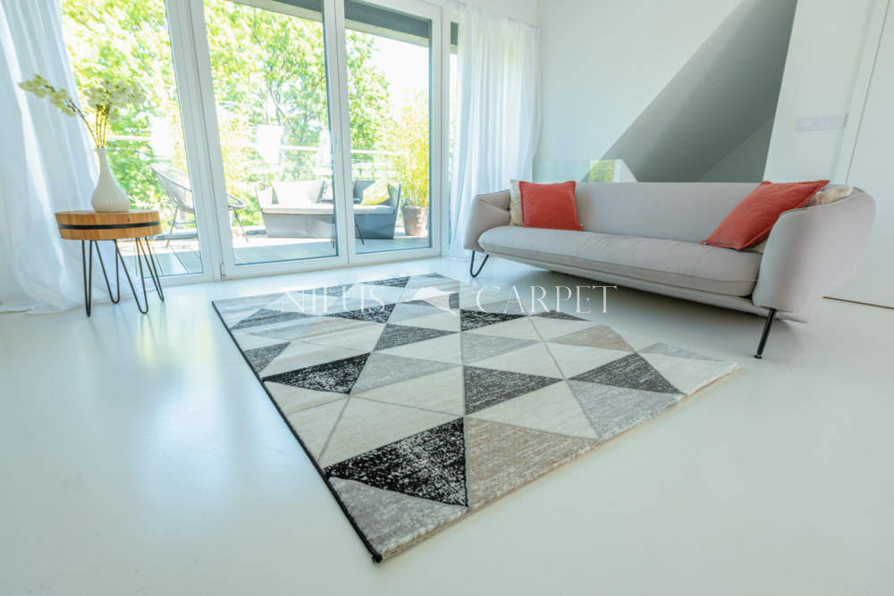 Art Miray 925 gray-black (szürke-fekete) szőnyeg 80x250cm