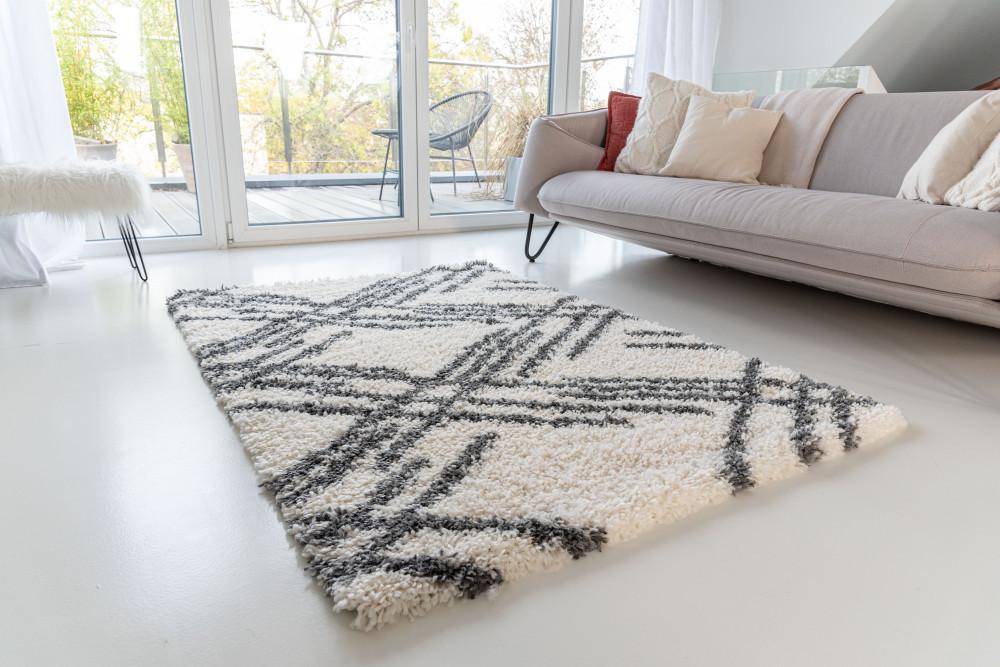 Berber Luxury 5040 antracit-cream (szürke-krém) szőnyeg 160x230cm