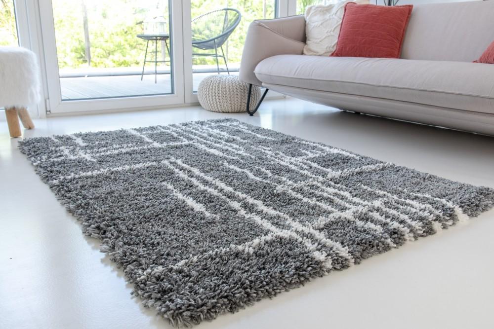 Berber Luxury 8708 antracit (szürke) szőnyeg 40x70cm