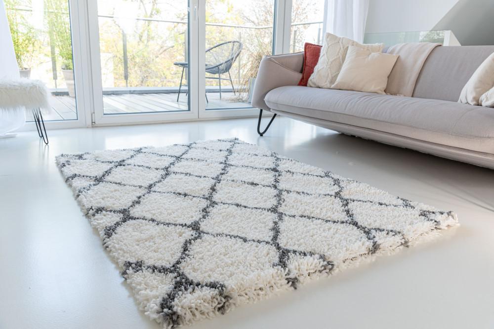 Berber Luxury 9327 antracit-cream (szürke-krém) szőnyeg 40x70cm