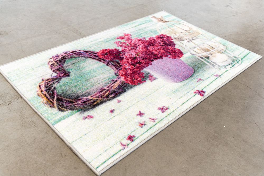 Belépő szőnyeg gumis aljjal kalitkás 50x80cm