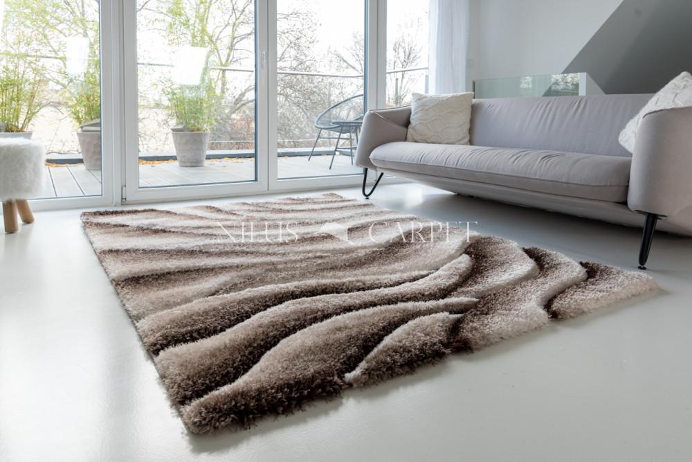 California 3d Shaggy 5cm vizon (vizon-barna) szőnyeg 60x220cm
