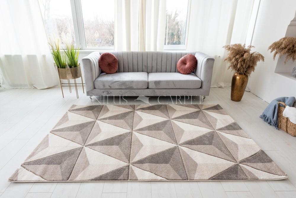 Charlotte 2398 beige-cream (bézs-krém) szőnyeg 60x110cm