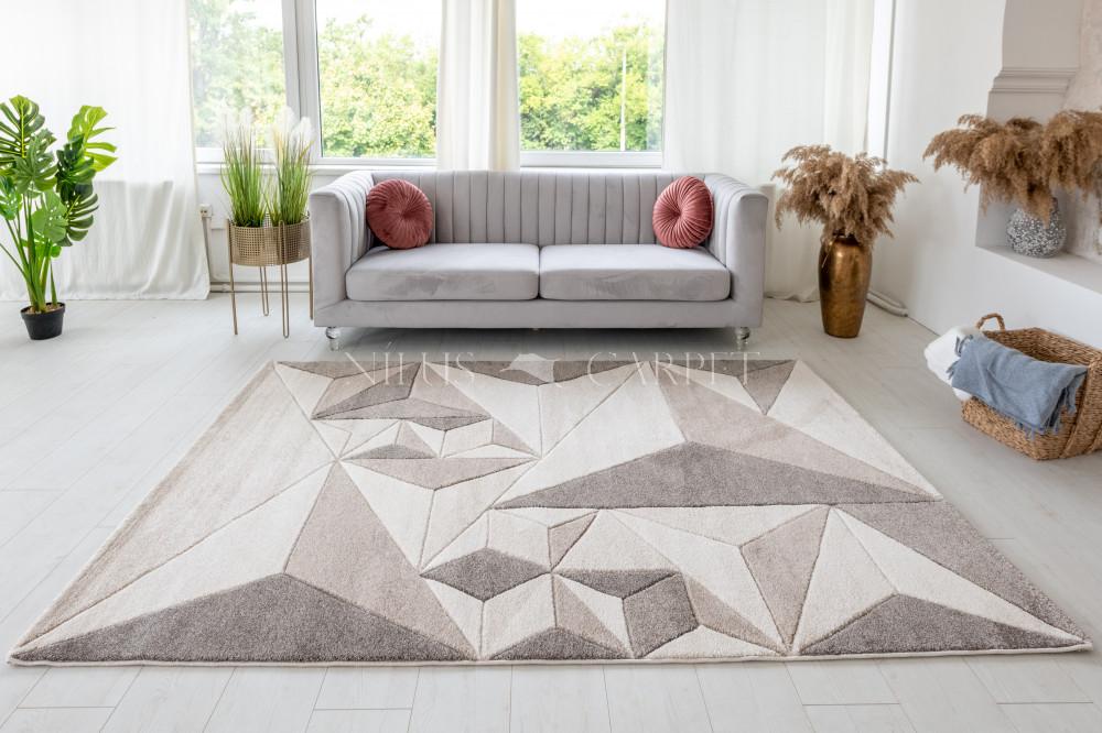 Charlotte 396 beige-cream (bézs-krém) szőnyeg 60x220cm