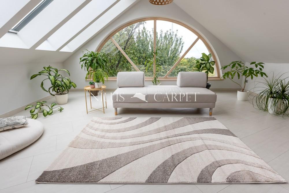 Charlotte 438 beige-cream (bézs-krém) szőnyeg 60x220cm