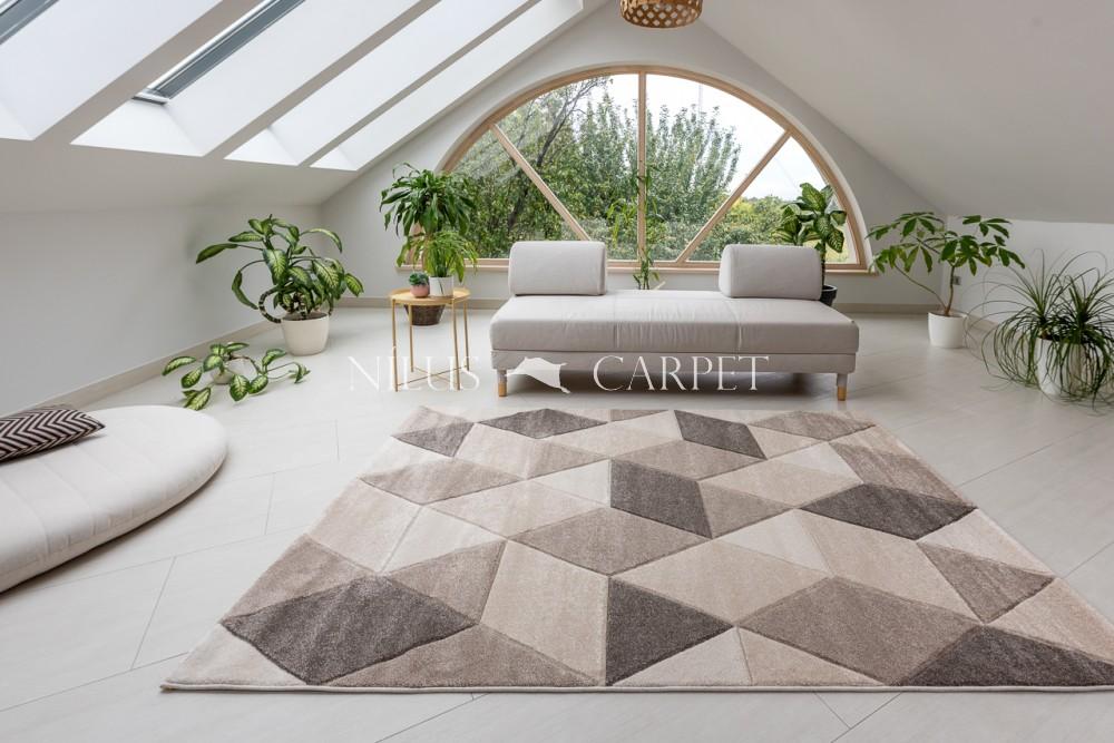Charlotte 8797 beige-cream (bézs-krém) szőnyeg 80x150cm