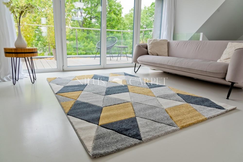 Charlotte 8797 yellow-gray (sárga-szürke) szőnyeg 80x250cm