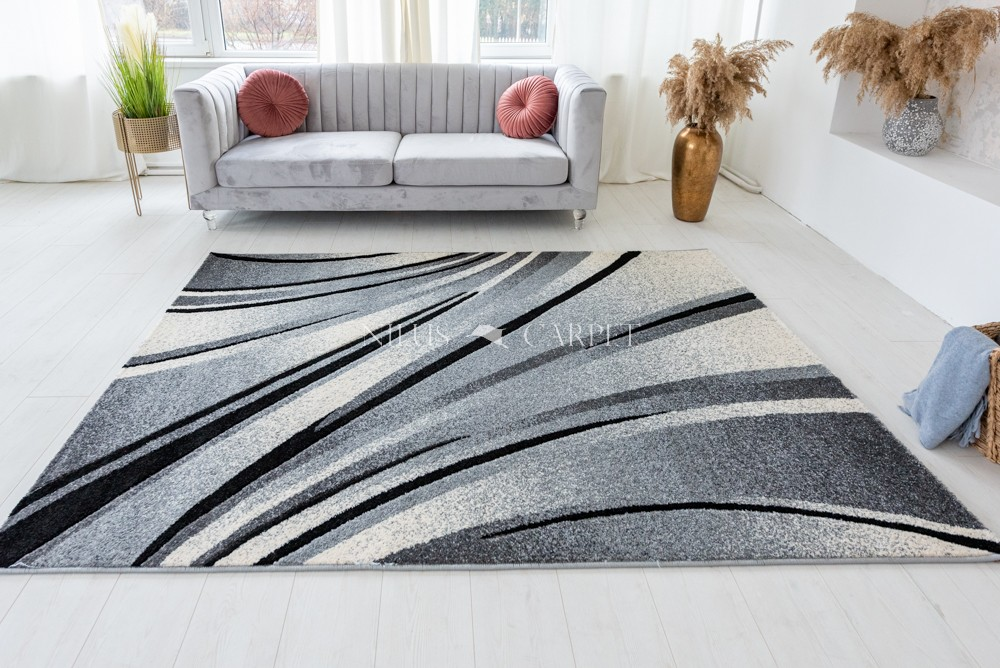 Charisma 9835 Gray (szürke) hullámos 60x220cm