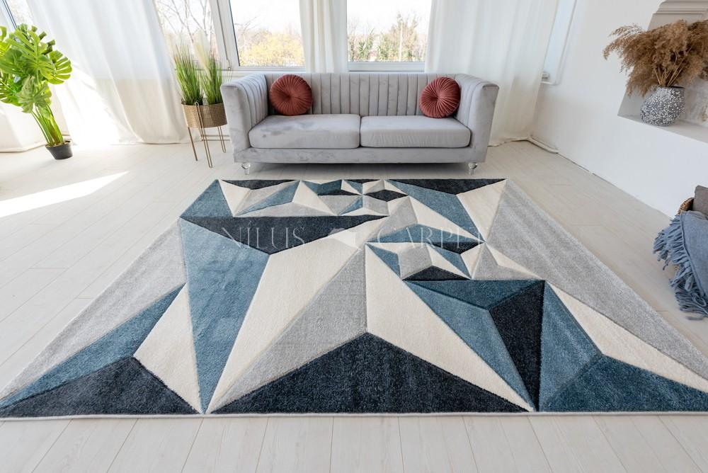 Charlotte 396 Blue Gray  (kék-szürke) szőnyeg 60x220cm