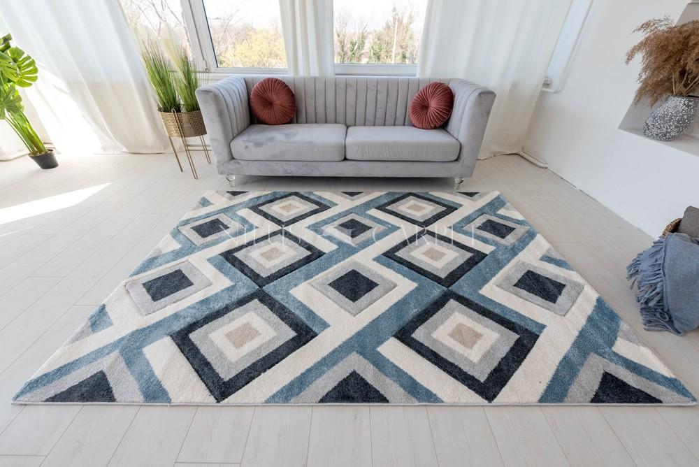 Charlotte 2404 Blue gray  (kék-szürke) szőnyeg 200x290cm