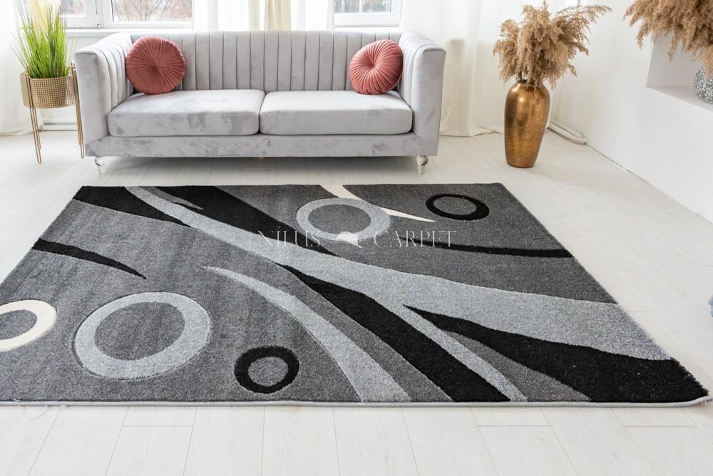 Charisma gray (szürke) kis karikás szőnyeg 80x250cm