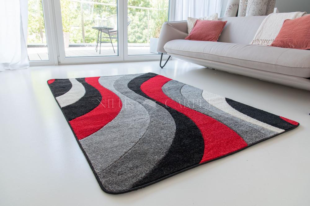 Comfort 6872 black-red (fekete-piros) 60x220cm