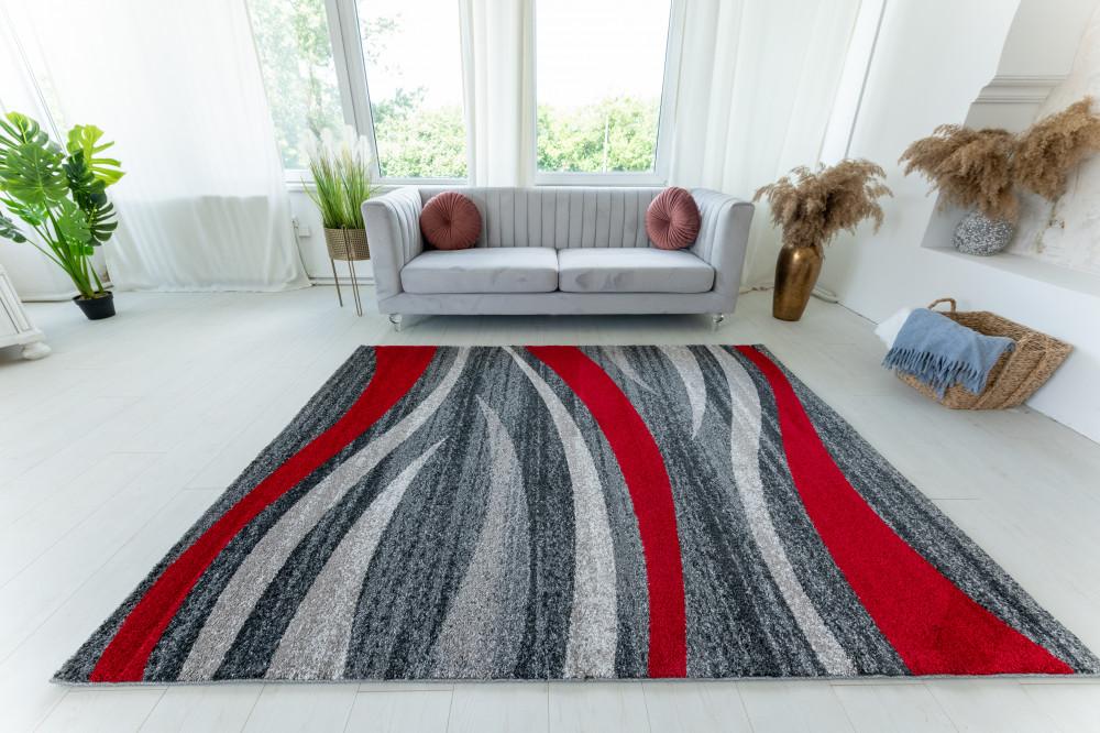 Elephant Gira Carpet 3872 (red-gray) szőnyeg 120x170cm Piros-Szürke