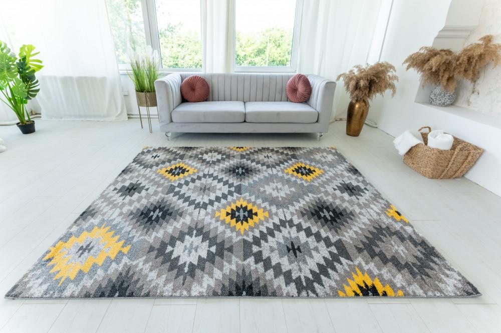 Elephant Gira Carpet 3874 (yellow-mink) szőnyeg 60x110cm Sárga-Mink