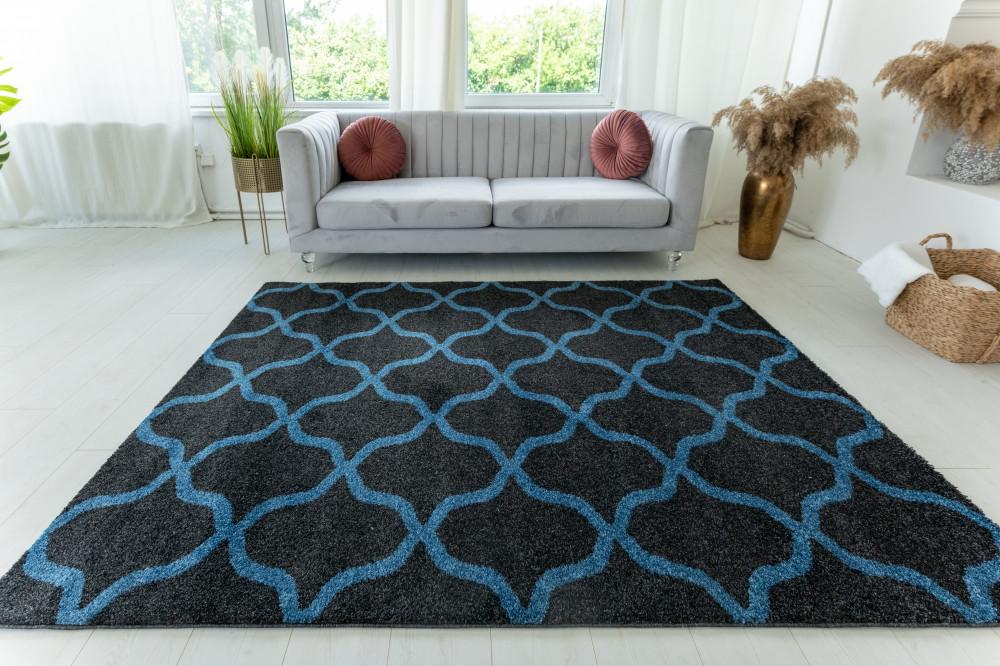 Elephant Gira Carpet 3879 (blue-antracit) szőnyeg 160x220cm Kék-Antracit