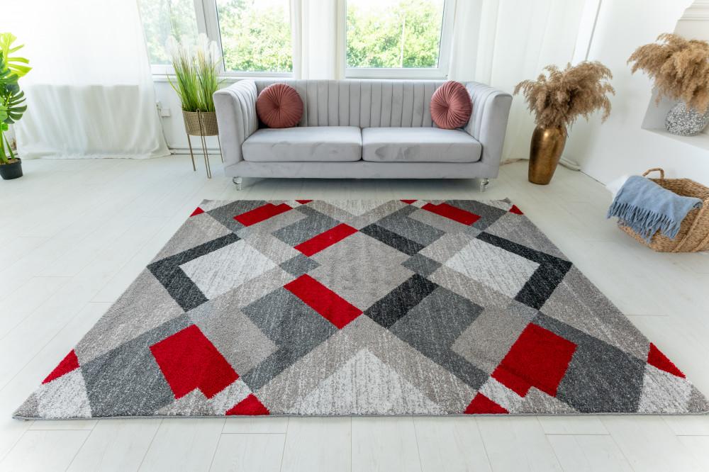 Elephant Gira Carpet 3880 (red-mink) futószőnyeg 80x250cm Piros-Mink