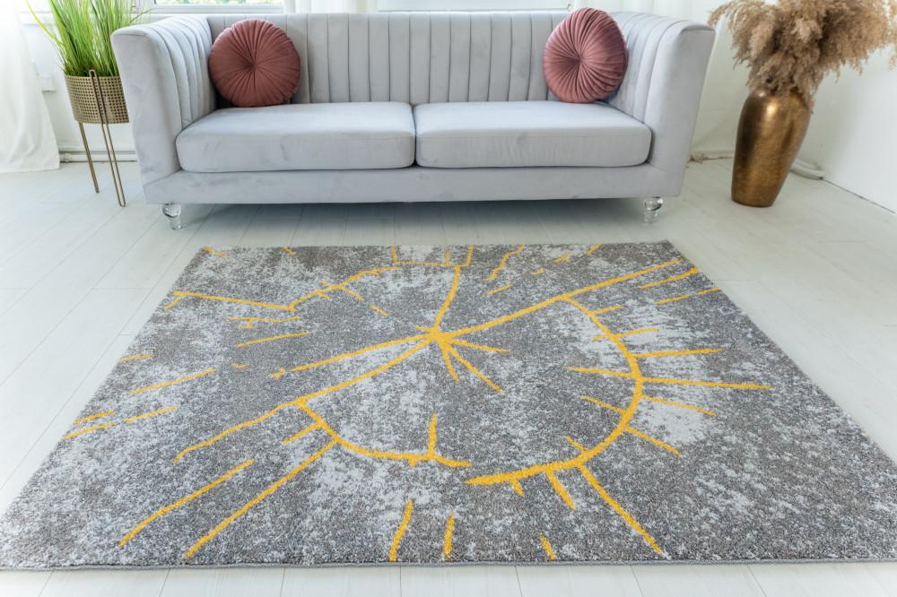 Elephant Gira Carpet 3885 (yellow-mink) szőnyeg 120x170cm Sárga-Mink