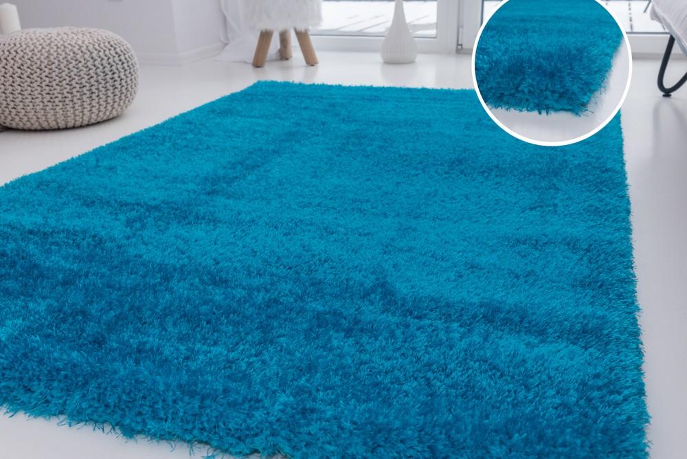 Luxury Shaggy türkízkék 200x290cm szőnyeg