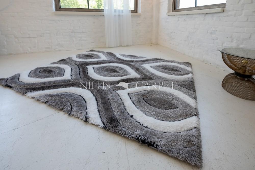 Elvira 3d Shaggy szőnyeg 0625 black-gray (fekete-szürke) 200x290cm