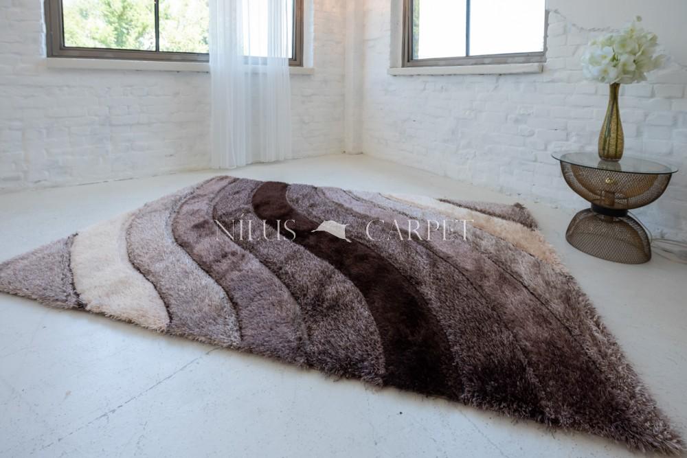 Elvira 3d Shaggy szőnyeg 1136 brown-beige (barna-bézs) 160x230cm