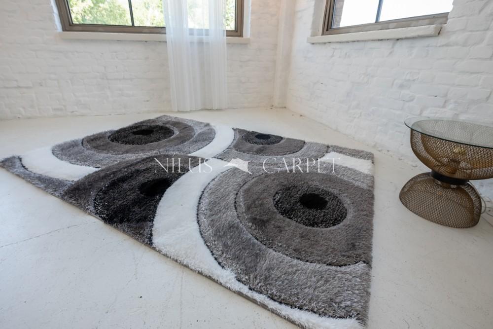 Elvira 3d Shaggy szőnyeg 1141 black-gray (fekete-szürke) 200x290cm