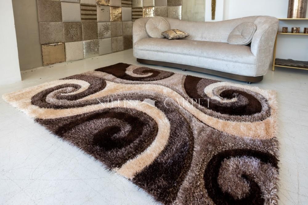Elvira 3d Shaggy szőnyeg 1142 brown-beige (barna-bézs) 200x290cm