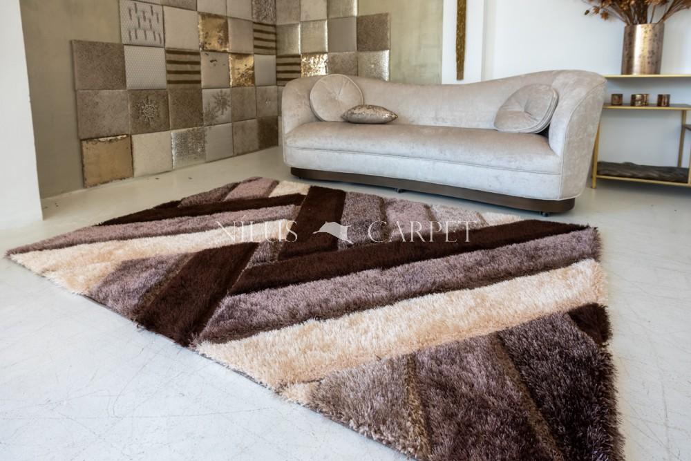 Elvira 3d Shaggy szőnyeg 1146 brown-beige (barna-bézs) 200x290cm