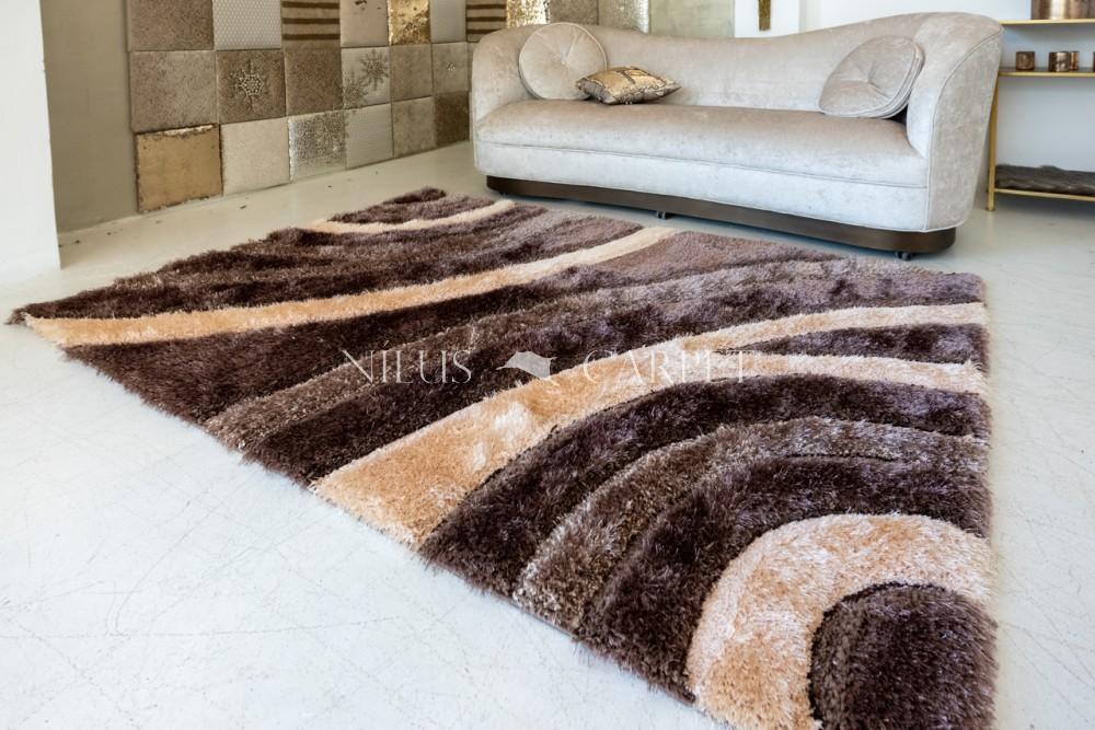 Elvira 3d Shaggy szőnyeg 2771 brown-beige (barna-bézs) 120x170cm