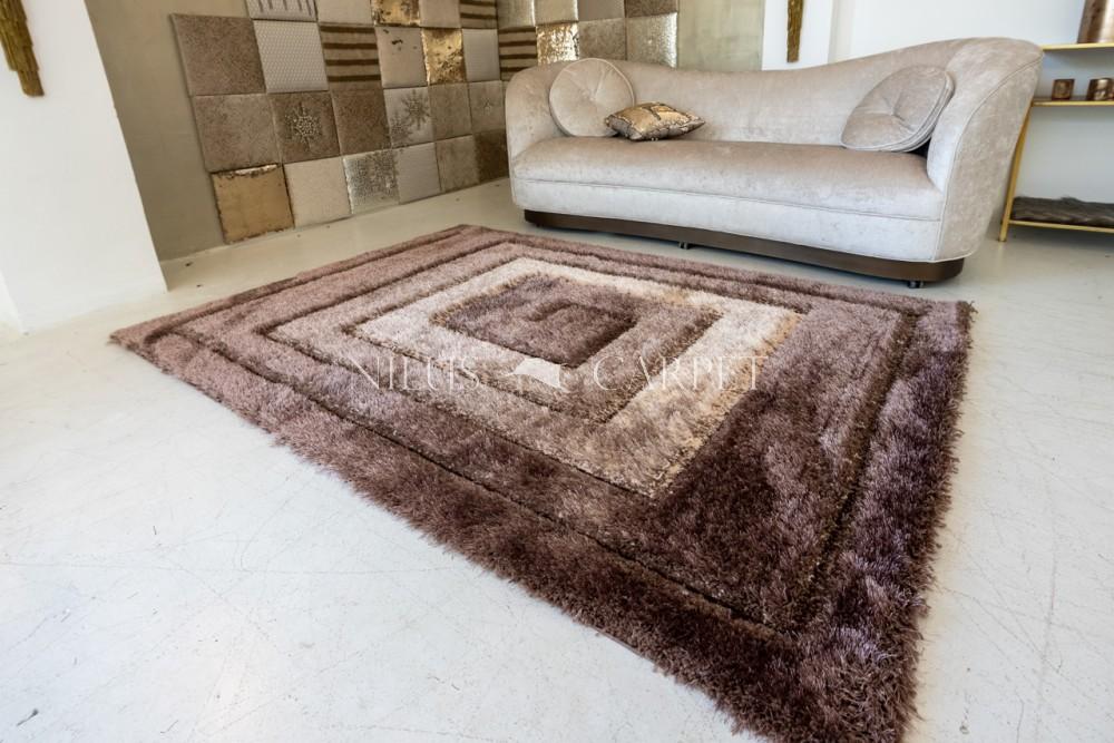 Elvira 3d Shaggy szőnyeg 5722 brown-beige (barna-bézs) 60x220cm