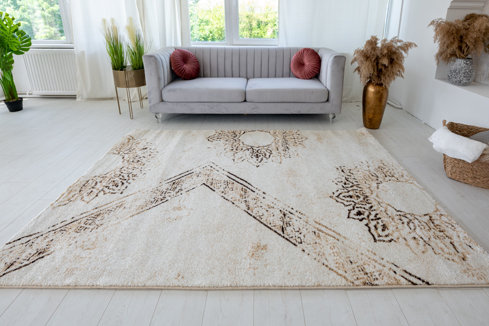 Nepal Antico (D. Brown-cream) szőnyeg 160x230cm Barna-krém
