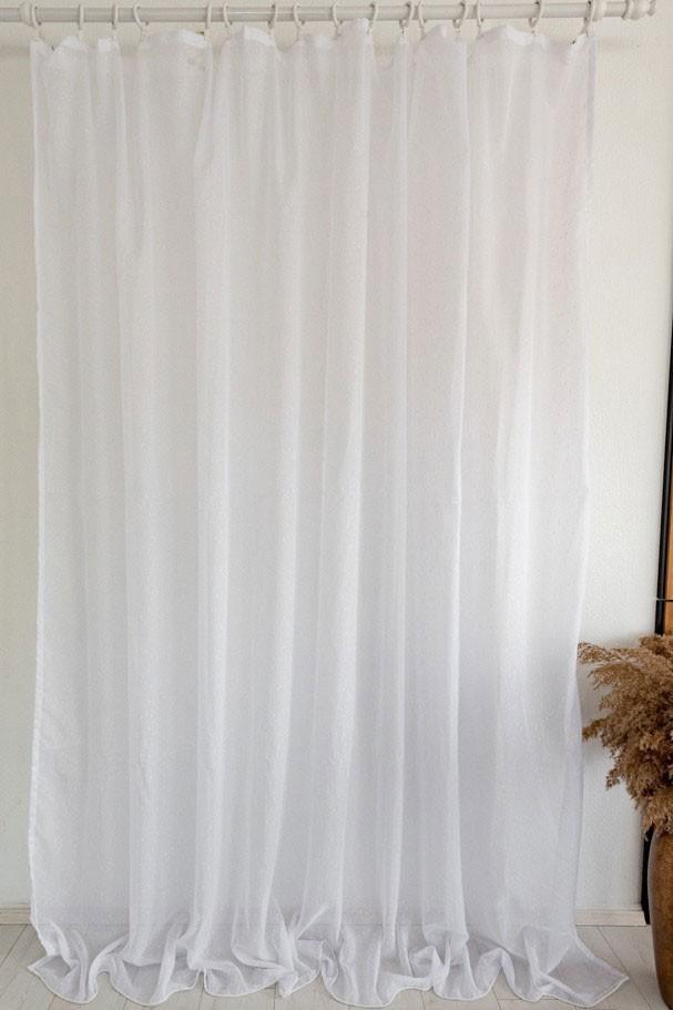 Crystal luxury készre varrt függöny 300x160cm Hófehér