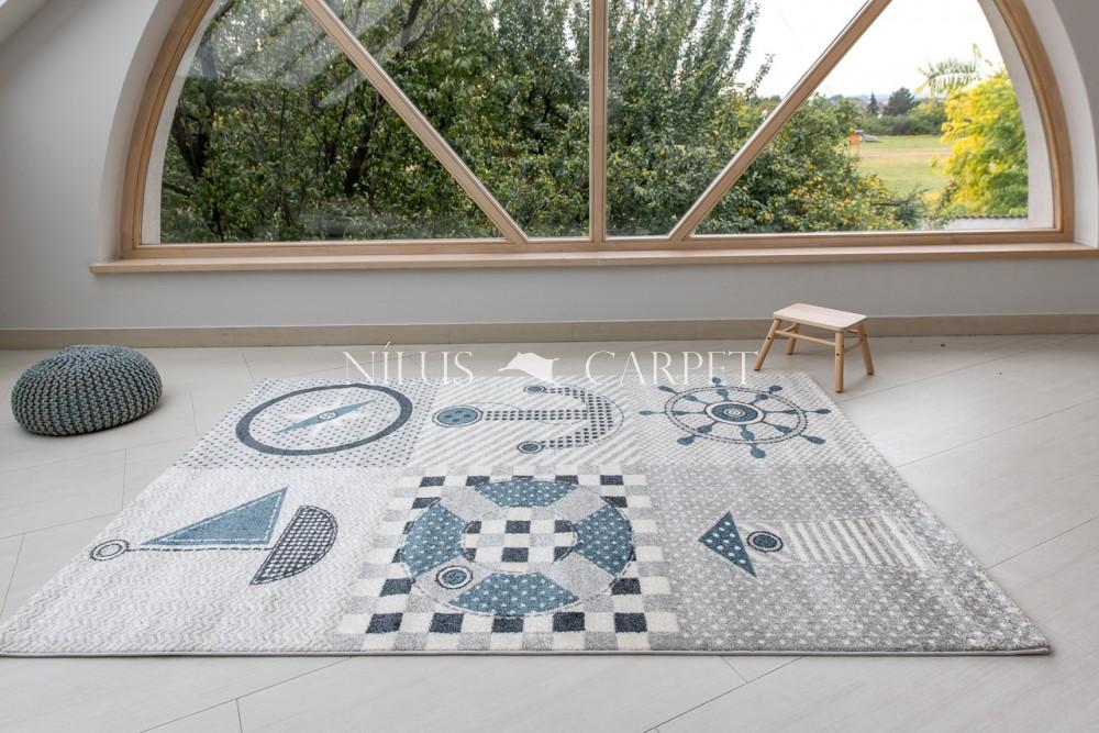 Gyerek szőnyeg matróz mintás gray (szürke) 80x150cm
