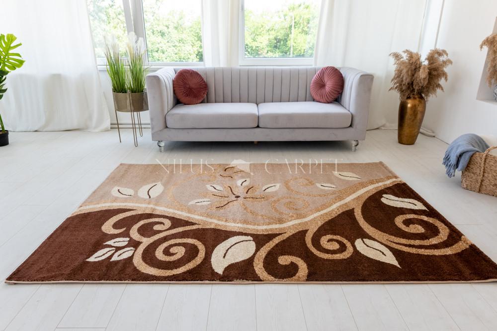 Kray 727 beige (bézs-barna) szőnyeg 60x220cm