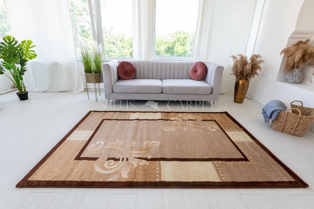 Kray 734 brown (bézs-barna-krém) szőnyeg 60x220cm