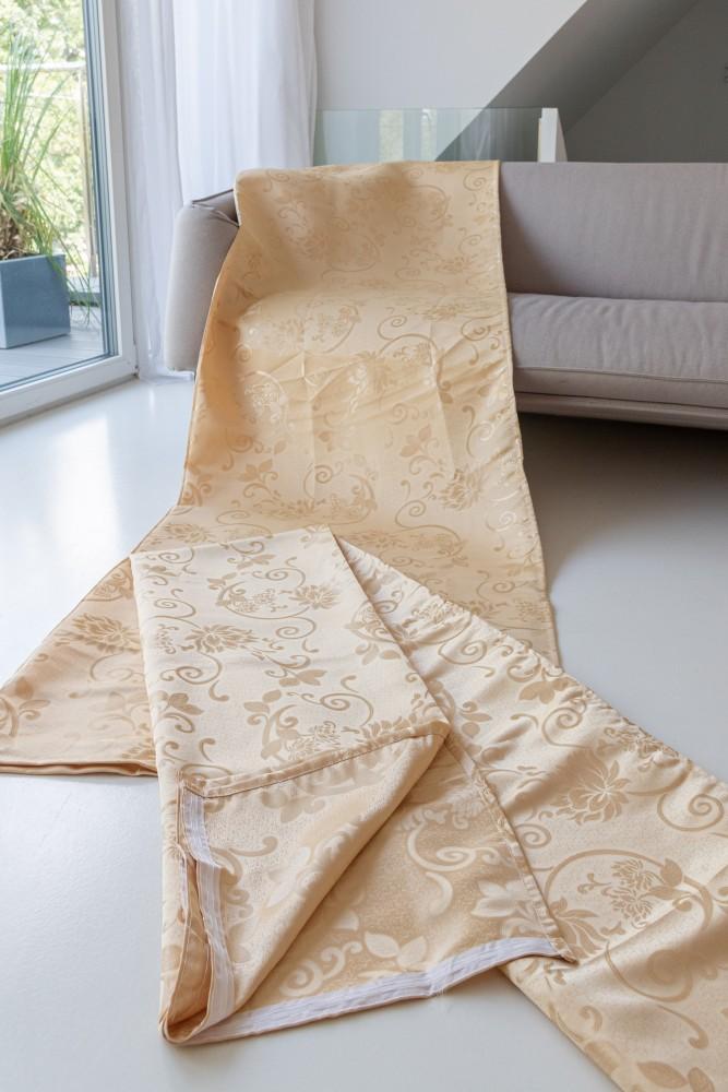 Kész Sötétítő imperial flower beige (bézs) 300x250cm függöny