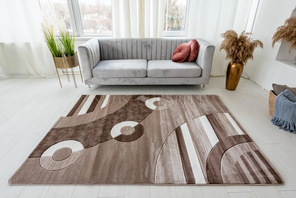 Lothus beige cream (bézs-barna ) modern keretes szőnyeg 60x100cm